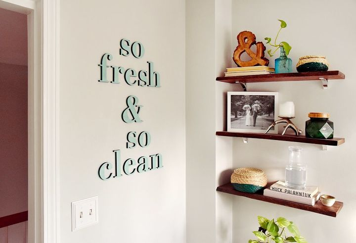 diy quote wall art with two tone wooden letters