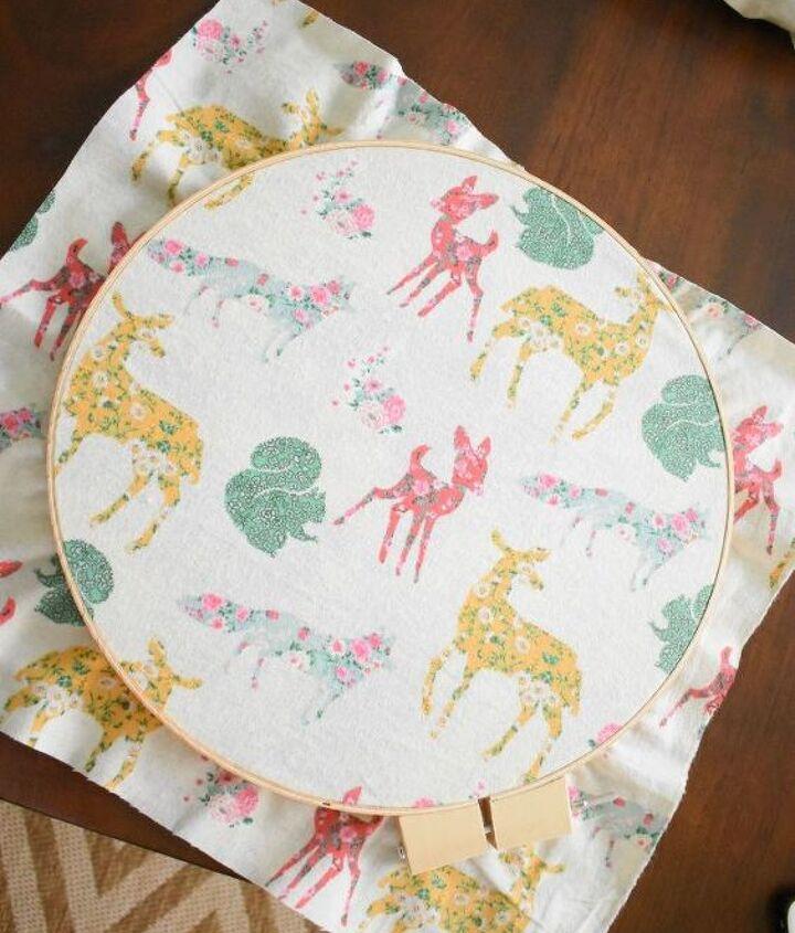 embroidery hoop mantle