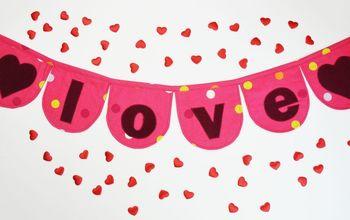 Valentine's Day Fabric Banner