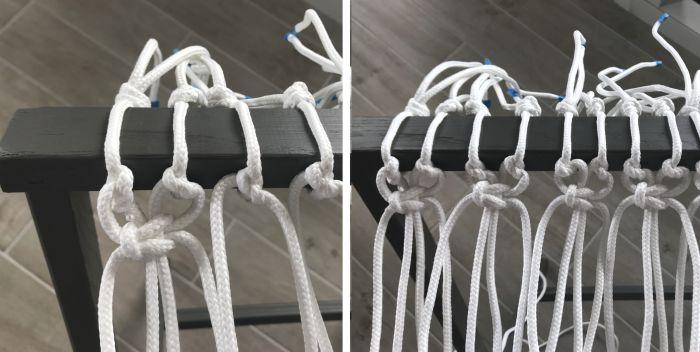 macrame luggage rack