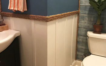 My First Solo Project - Guest Bathroom Blah to Beachy...continued!
