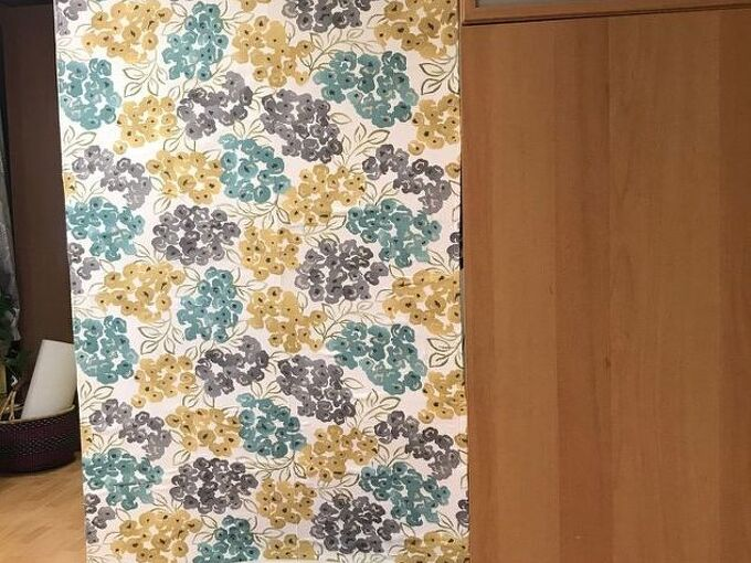 how to create a diy fabric room divider