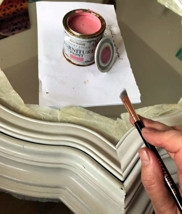Paint with Rust-Oleum Dusky pink chalky paint