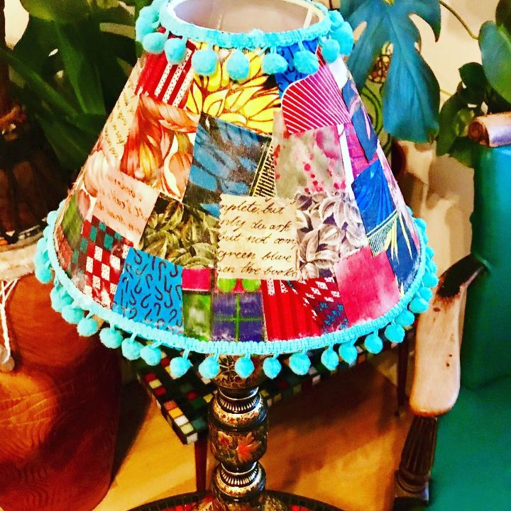 How to create a Lovely Patchwork Lampshade