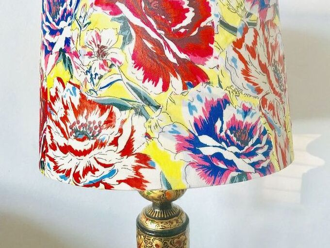 sweet floral decoupaged lampshade, Sweet Floral Decoupaged Lampshade