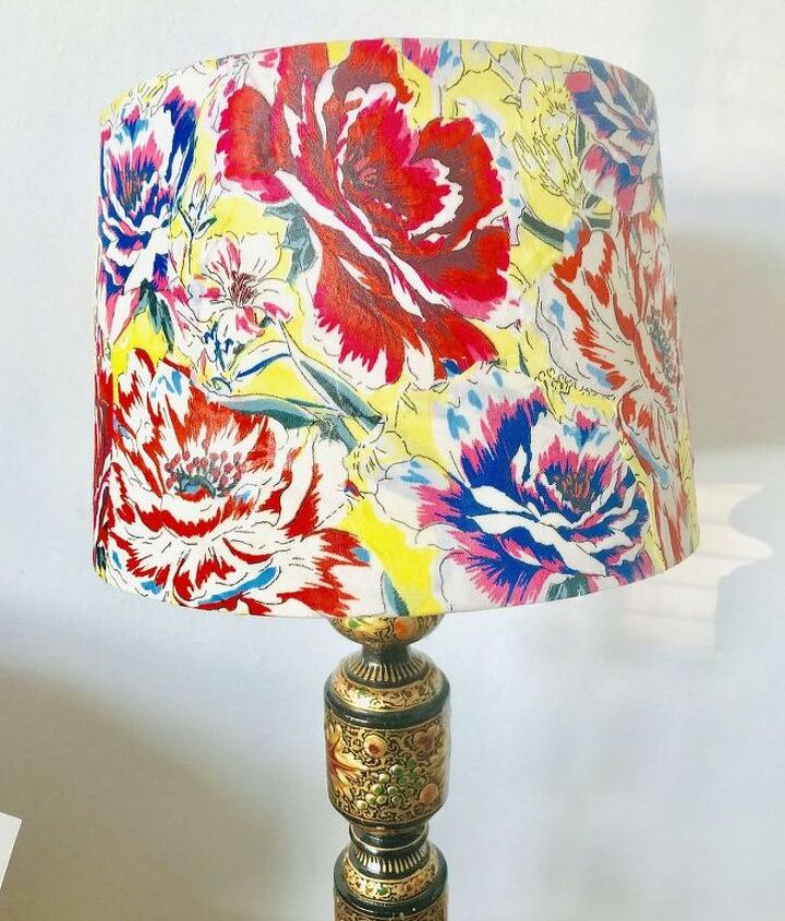Decoupage Flower Table Lamp with Shade