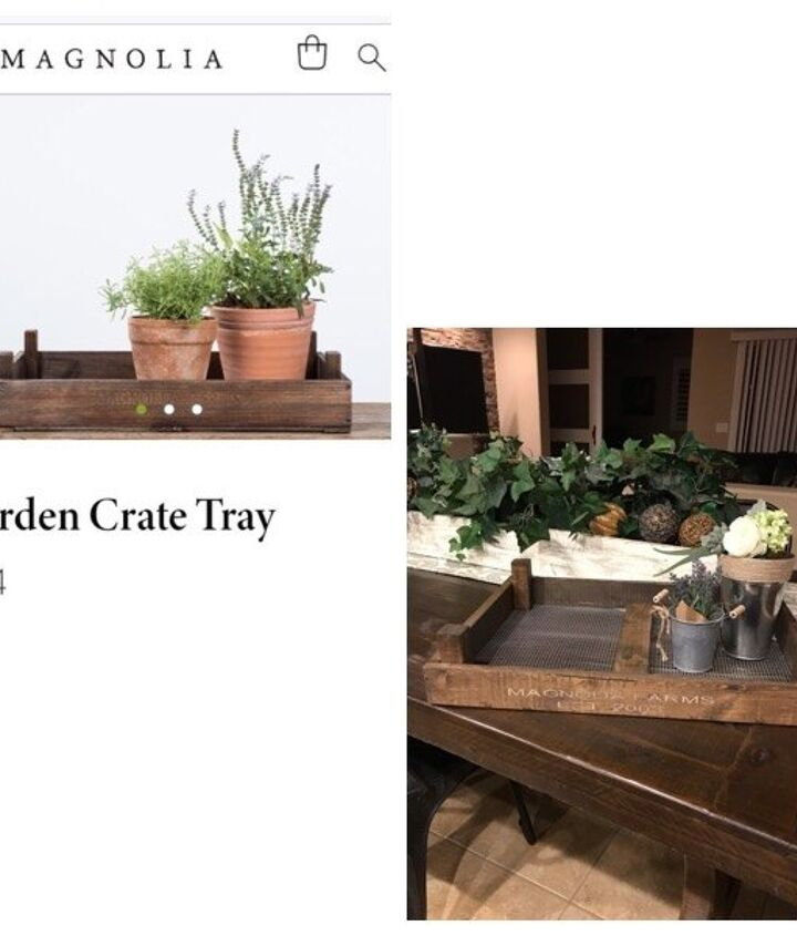 magnolia garden crate tray