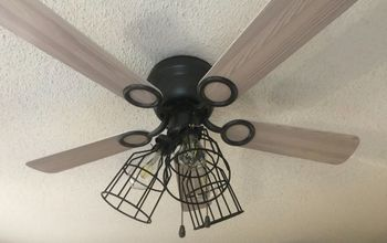 Old White Ceiling Fan Gets An Update!