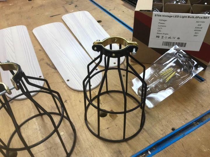 Cage Globes and Edison Light Bulbs