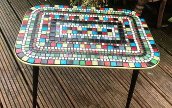How to Transform and up Cycle an Old Coffee Table With Glass Mosaics