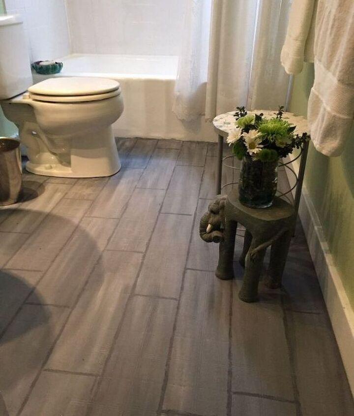 Bathroom Floor Tile or Paint? (The Design Bungalow)