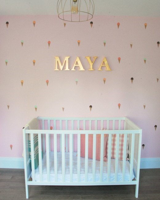 Nursery Accent Wall (The Sweetest Digs)