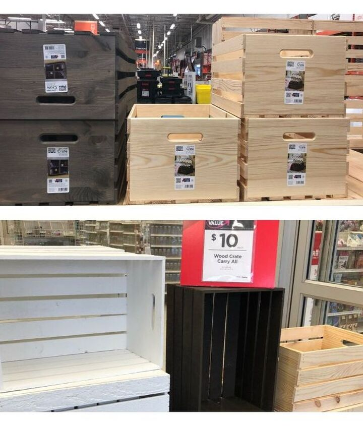 Colored Crates-Top Home Depot Bottom Michaels