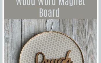 Dollar Store Decor:  Wood Word Magnet Board