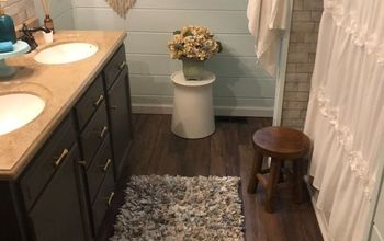 Ugly Dated Bathroom Makeover for Under $2000