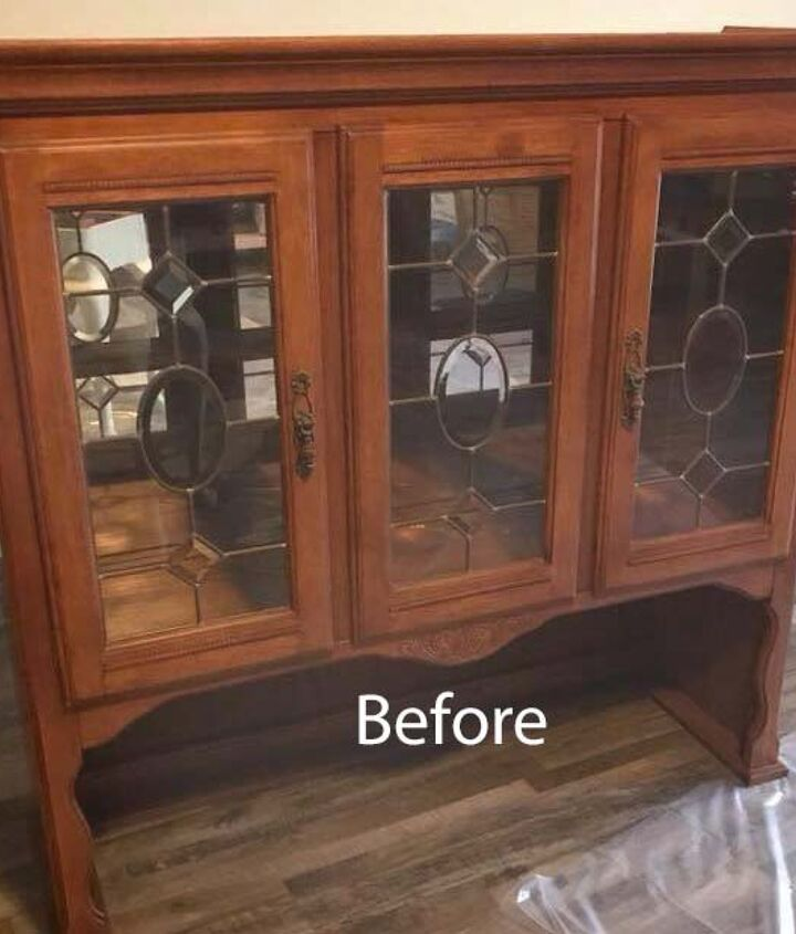 old hutch top makeover flip it upside down