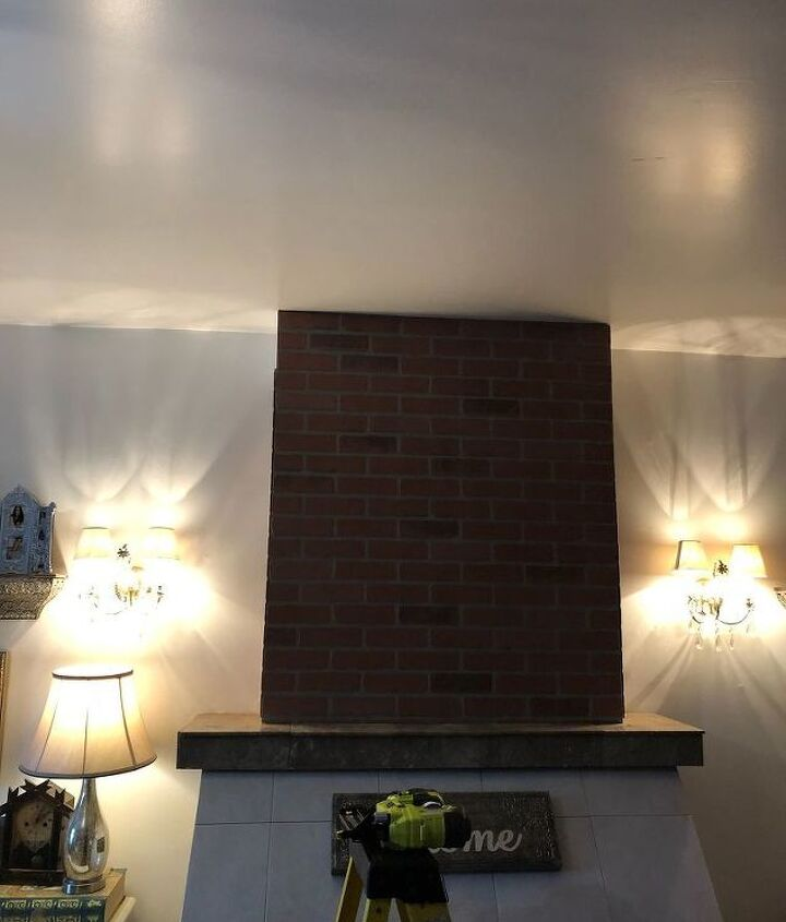 mini fireplace makeover