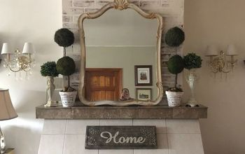 Mini Fireplace Makeover...