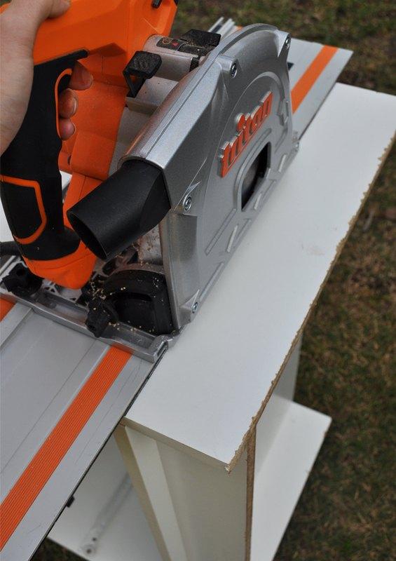 Cutting off the toe-kick