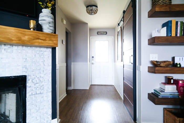 diy beadboard entryway