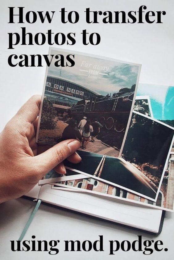 easy photo canvas wall art diy