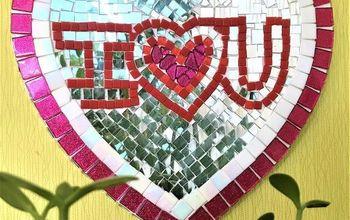 Mosaic Love Heart Art! Valentines Day Gift