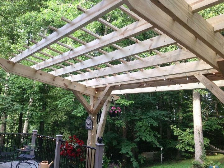 cantilevered pergola diy designed and built