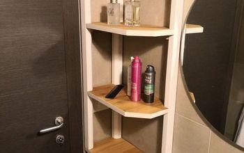 Angled Bathroom Shelf.
