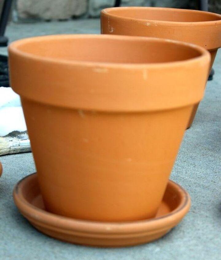transform a cheap terra cotta pot into this
