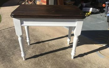 Yard Sale Old Table Into a Hampton Style Hall Table