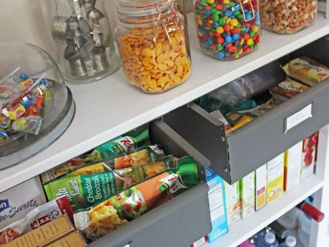 14 genius pantry door upgrades that will elevate your kitchen, Open Door Food Pantry Lela Burris