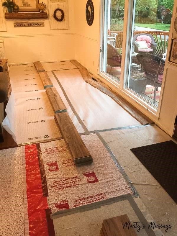Installing Laminate Flooring (Marty's Musings)