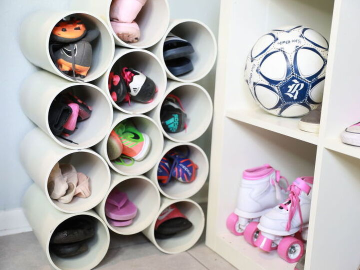 DIY PVC Pipe Organizer for Your Shoes