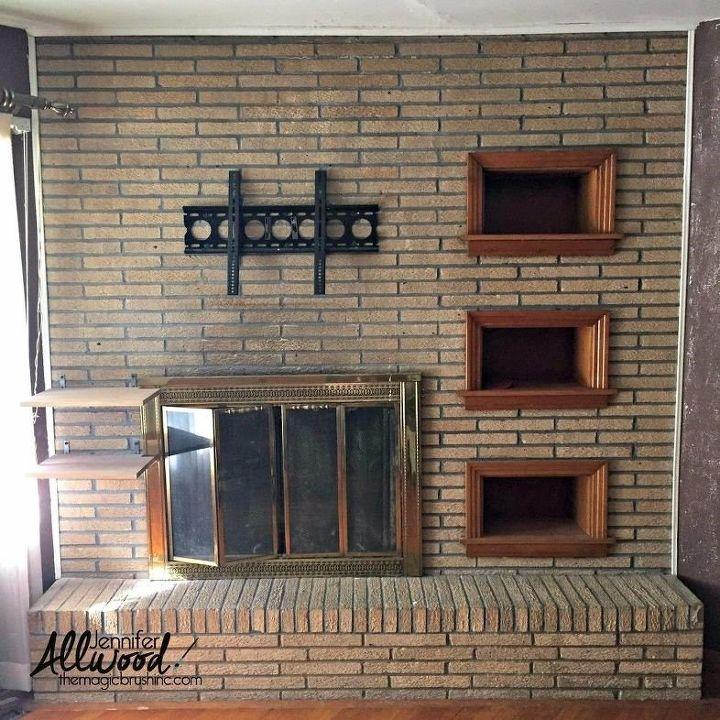 Brick Fireplace Remodel (Jennifer Allwood)