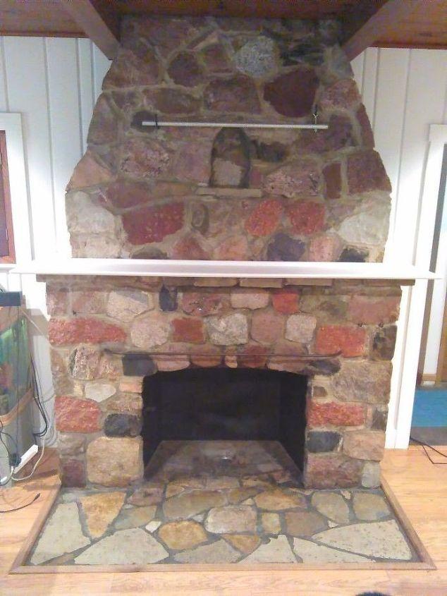 Stone Fireplace Remodel (CrazyDIYMom)