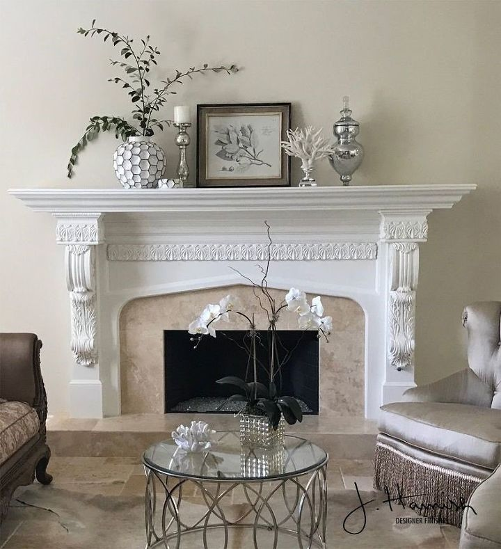 White Painted Fireplace (Craftsman Finishes)