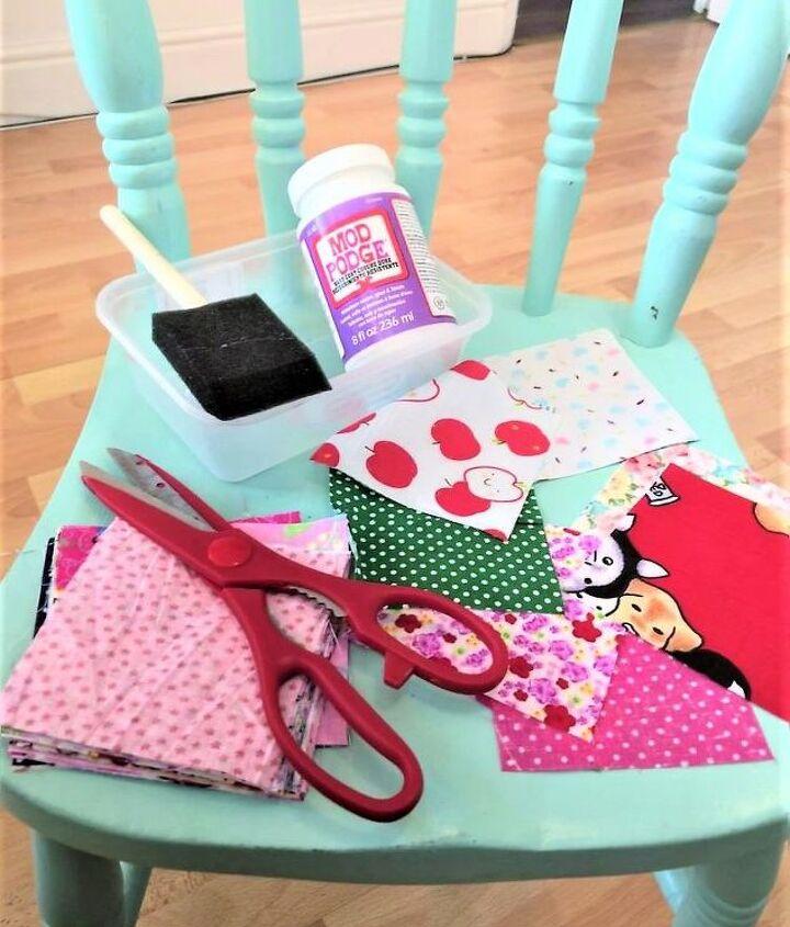 Decoupage chair preparation