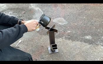 How to Make a Burning Rocket Stove