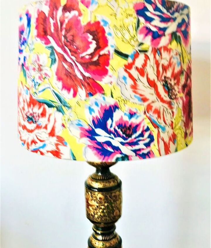 Decoupaged Floral Lampshade