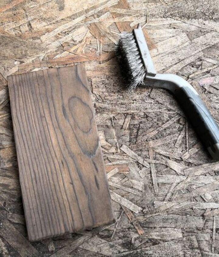 diy torched scrap wood tray