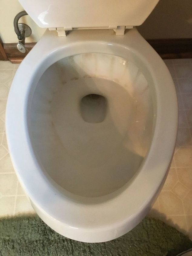 q how to gets stains out of toilets