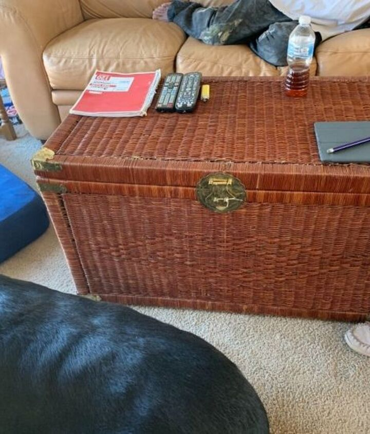 How Do I Fix Up A Old Wicker Chest Into A Coffee Table Hometalk