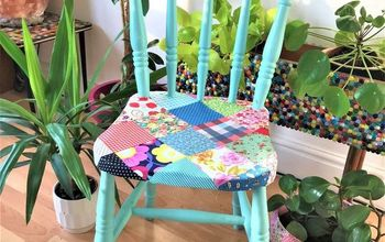 Cute Country Cottage Patchwork Chair