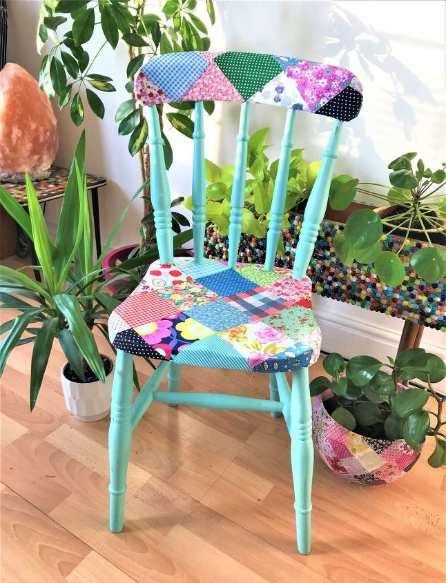 how to create Country Cottage decoupage chair
