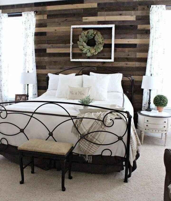 Wood Wall Bedroom (Claire @ The Rustic Pig)