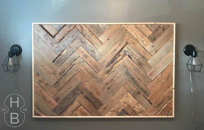 Pallet Wood Headboard (Casey FitzGerald)