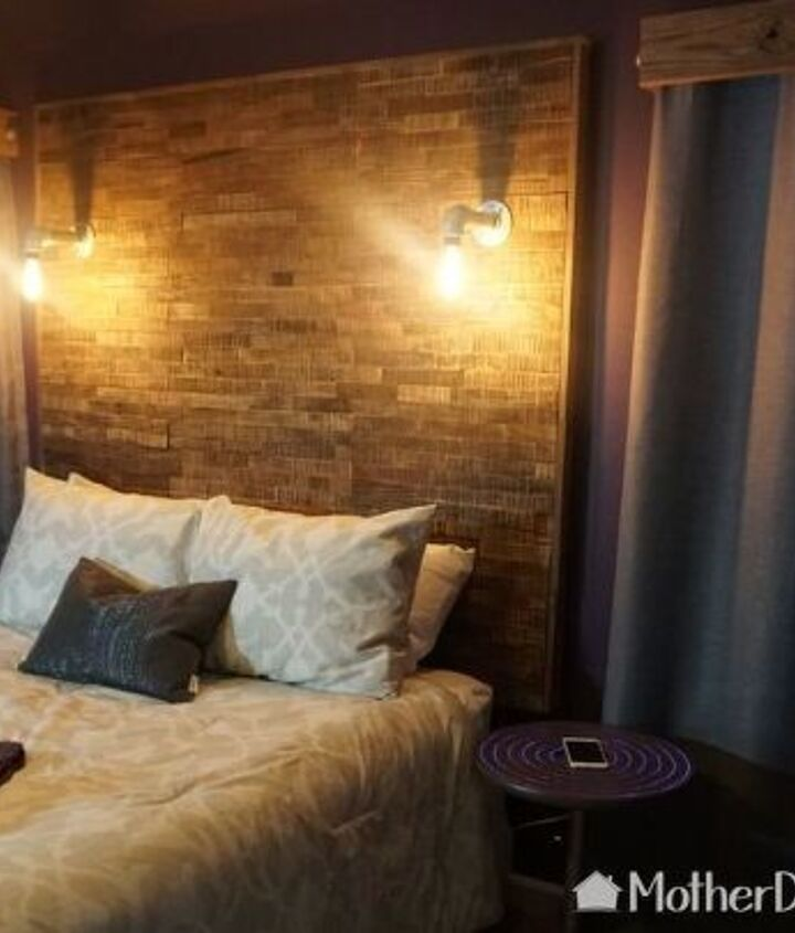 Wood Headboard DIY Ideas(Mother Daughter Projects)