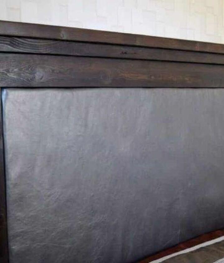 Wood and Leather Headboard (Vineta @ The Handyman's Daughter)