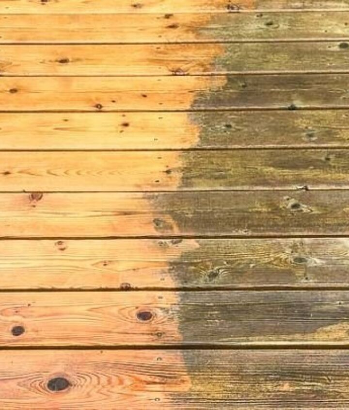 Cleaning Deck Before Staining (Vineta @ The Handyman's Daughter)
