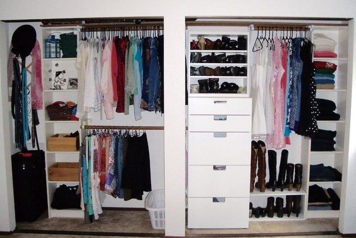 Ikea Closet Organizer Ideas (Single Girl's DIY)